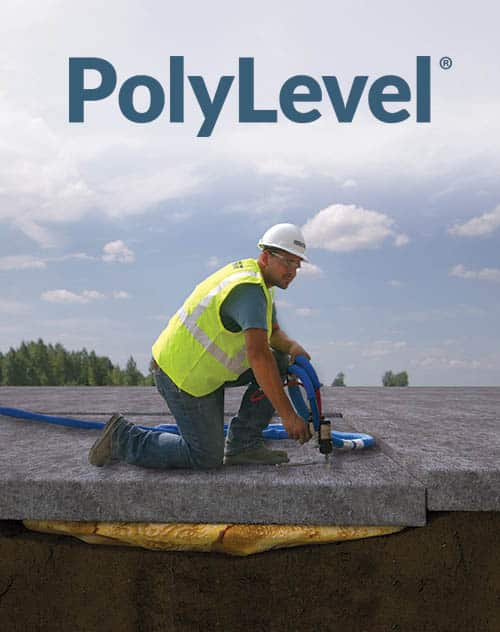 total foundation solutions concrete repair contractor lifting concrete using our polylevel concrete leveling solution